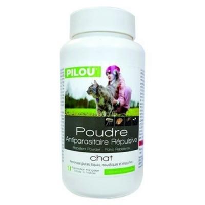 法國皮樂Pilou第二代加強升級-非藥用除蚤蝨乾洗粉-貓用150g 兩罐組