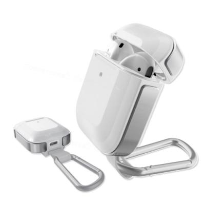 刀鋒TREK Apple Airpods 鋁合金雙料 藍牙耳機盒保護套(極簡風暴白)