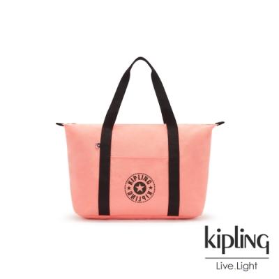 Kipling 甜美珊瑚粉簡約手提肩背托特包-ART M LITE