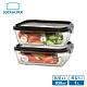 【樂扣樂扣】積木耐熱玻璃保鮮盒 (1L+930ML分隔/二入組/1B01-LLG991S2C)(快) product thumbnail 2