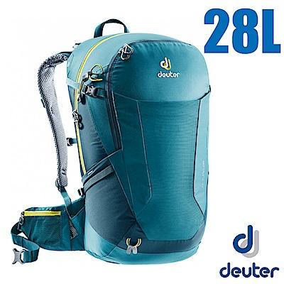 德國 Deuter Futura 28L 輕量網架式透氣背包(附防水背包套)_湖綠/藍