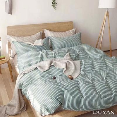 DUYAN竹漾-100%精梳棉/200織-雙人加大四件式舖棉兩用被床包組-抹茶拿鐵 台灣製