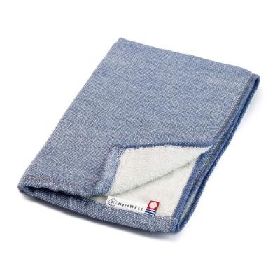 日本愛子 Hartwell 今治素色丹寧風紗布毛巾-淺藍