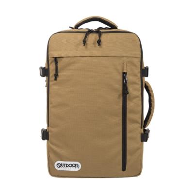 【OUTDOOR】悠遊寰旅-17吋筆電後背包-棕色 OD101132BE