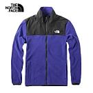 The North Face北面男款藍色保暖抓絨外套|3VTAN8E