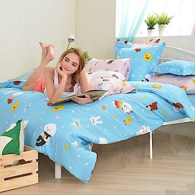 英國Abelia 白日夢飛翔 單人天使絨兩用被床包組