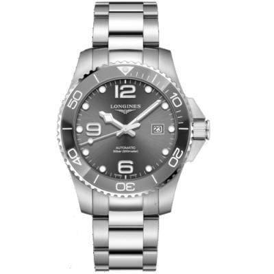 LONGINES浪琴征服者系列陶瓷潛水機械錶(L37824766)-43mm/灰