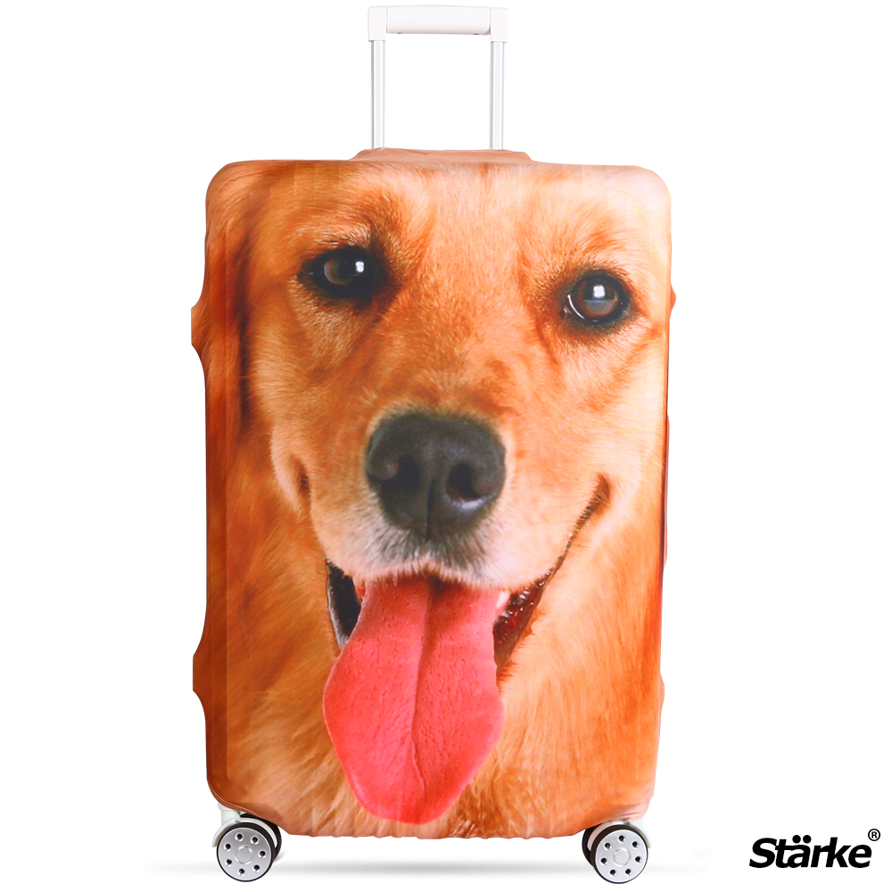 Starke 適用23-26吋高彈性行李箱套 -黃金獵犬