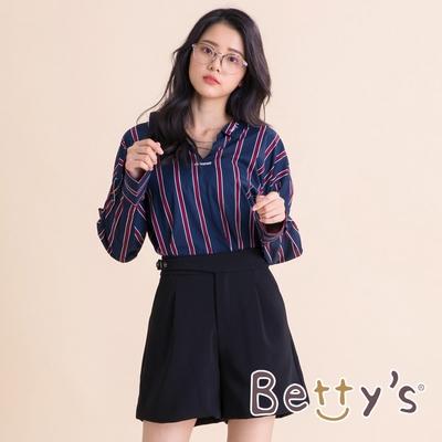 betty's貝蒂思 質感厚雪紡西裝短褲(黑色)