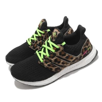 adidas 慢跑鞋 UltraBOOST DNA 襪套式 女鞋 愛迪達 豹紋 路跑 跑步 Boost 緩震 黑棕 FZ2731