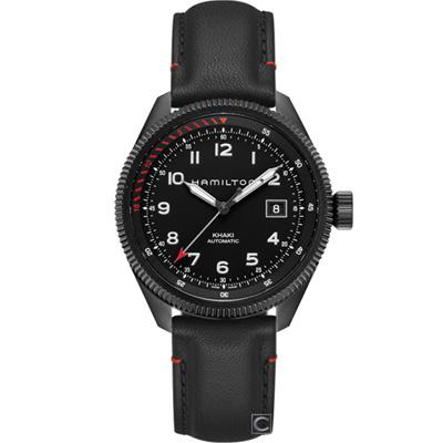 Hamilton 卡其黑鷹轟炸自動機械錶(H76695733)