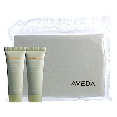 *AVEDA 洗面棉+純型淨顏保濕乳25ml*2