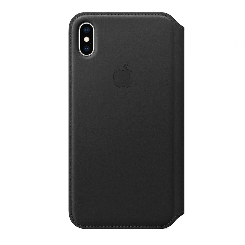 Apple 原廠 iPhone Xs Max Leather Folio 皮革雙面夾 黑 (台灣公司貨)