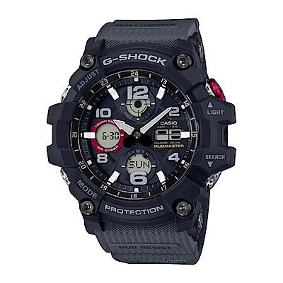 G-SHOCK MUDMASTER防塵防污太陽能錶-灰GSG-100-1A8/54.9mm