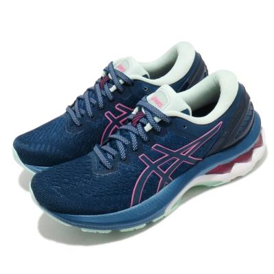 Asics 慢跑鞋 Gel Kayano 27 女鞋 亞瑟士 高支撐 膠底 緩震 穩定 亞瑟膠 藍 粉 1012A649400