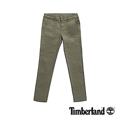 Timberland 女款葡萄葉超彈力修身休閒長褲|B2204