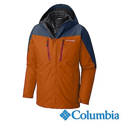 Columbia哥倫比亞 男款-Omni-Tech防水保暖兩件式外套-土黃色