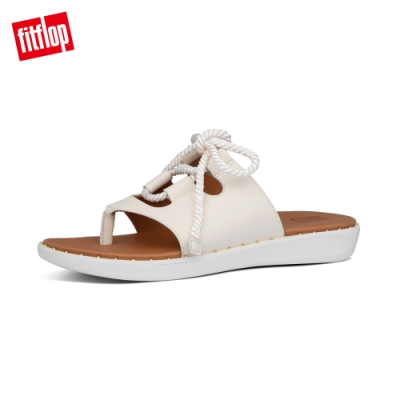 【FitFlop】FELICITY LACE-UP LEATHER TOE-THONGS夾腳涼鞋-女(白石色)