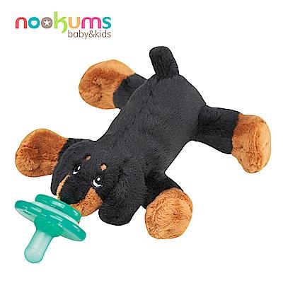 美國 nookums 寶寶可愛造型安撫奶嘴/玩偶-臘腸狗