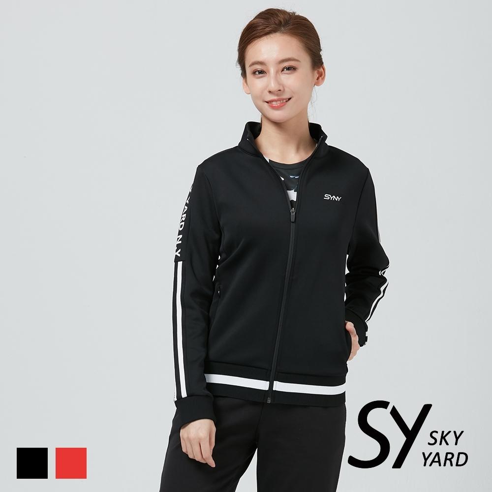【SKY YARD 天空花園】立領拉鍊口袋長袖外套-黑色