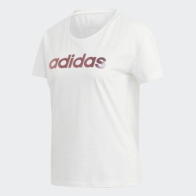 adidas 短袖上衣 運動 訓練 休閒 女款 白 GL7802 ADIDAS GRAPHIC TEE