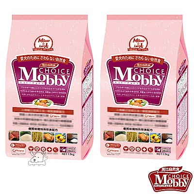 Mobby 莫比 羊肉+米 大型幼母犬配方飼料 1.5公斤 X 2包