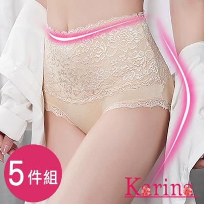 Karina-奢華蕾絲高腰內褲(5件組)