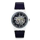 Swatch THINK FUN系列 SILIBLUE 透明藍鏡手錶