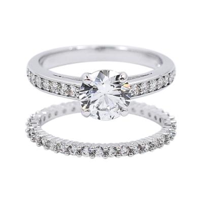 SWAROVSKI 施華洛世奇 ATTRACT璀璨圓形水鑽銀色組合戒指