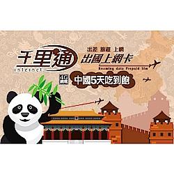 中國上網卡 中國 5天無限上網吃到飽免翻牆保證不降速上網卡