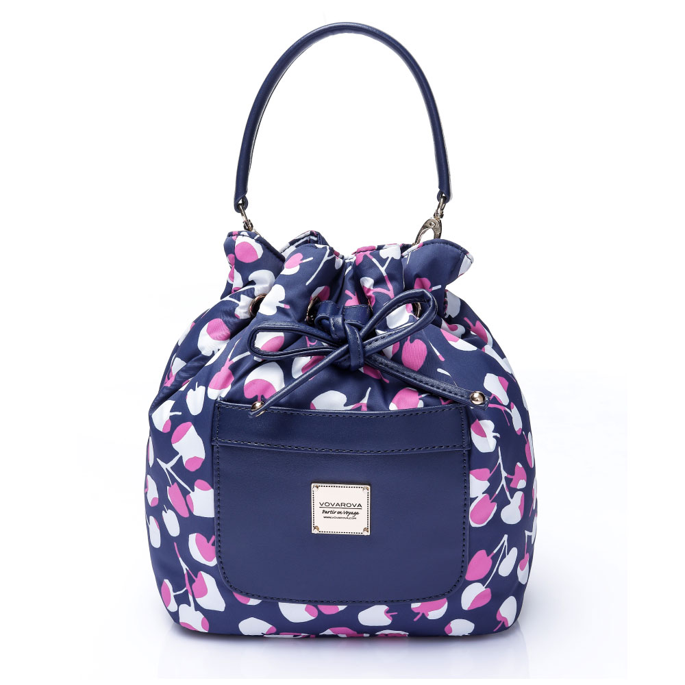 VOVAROVA空氣包-口袋水桶包-Cherrypicks(Indigo&pink)