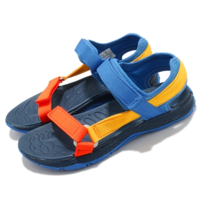 Merrell 涼鞋 Kahuna Web 魔鬼氈 夏日必備 童鞋 避震 耐磨 抓地 透氣 中大童 藍 黃 MK264947