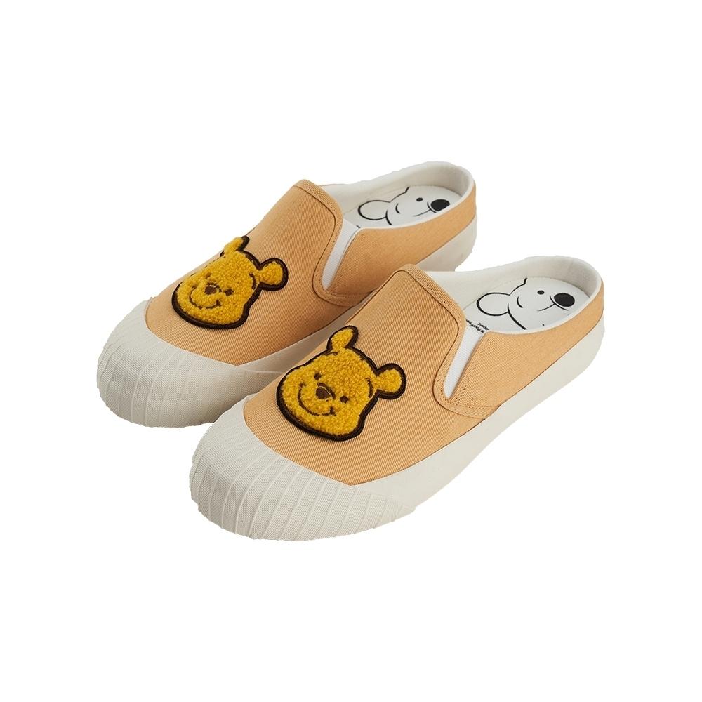 迪士尼親子鞋 小熊維尼 經典造型休閒懶人鞋-黃