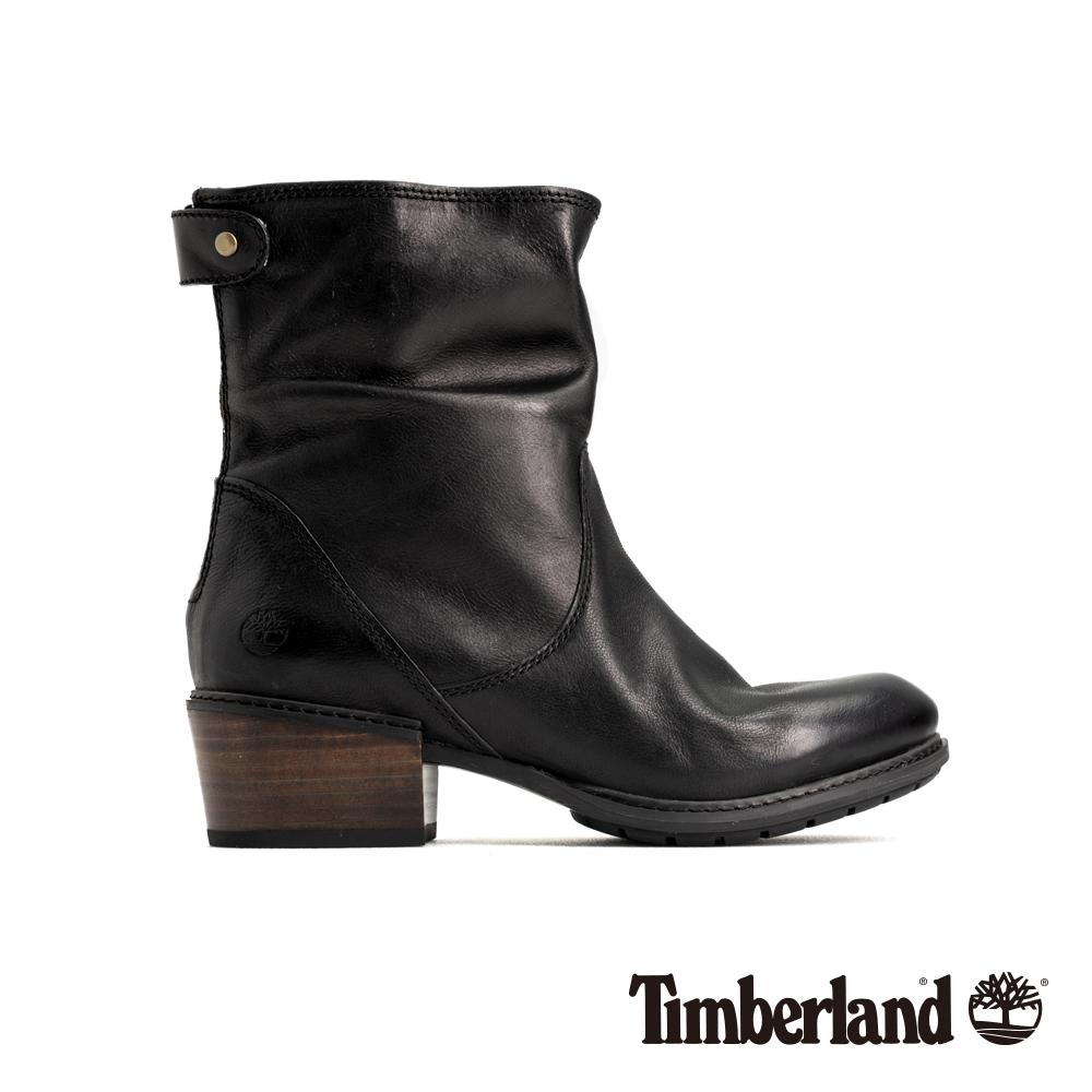 Timberland 女款黑色全粒面皮革休閒低跟靴 A1SDF @ Y!購物