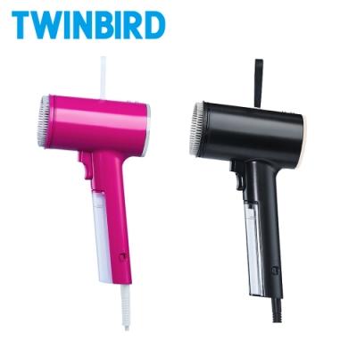 【成雙成對組】日本TWINBIRD-高溫抗菌除臭 美型蒸氣掛燙機TB-G006TW(桃紅+黑)