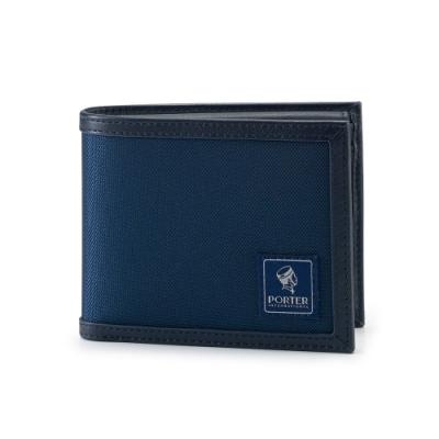 PORTER - 個性獨特FRINGE橫式零錢短夾 - 深藍