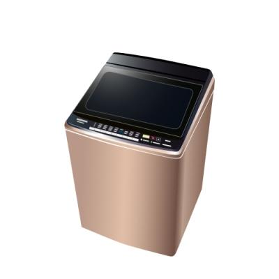 [時時樂限定] Panasonic國際牌 16KG 台灣製 變頻雙科技溫水直立式洗衣機NA-V160GB-PN玫瑰金