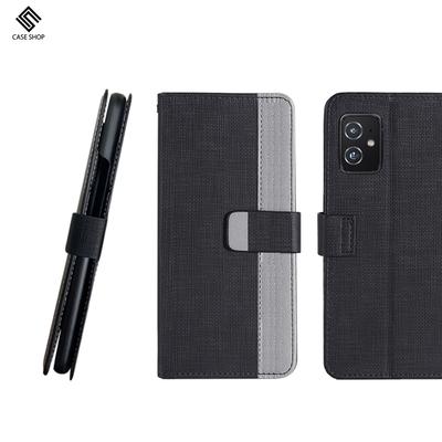 CASE SHOP ASUS Zenfone 8 (ZS590KS) 拚色側立式皮套