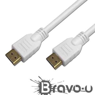 Bravo-u HDMI to HDMI 影音傳輸線 白/3M