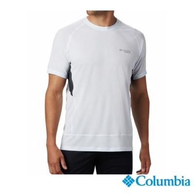 Columbia 哥倫比亞 男款-野跑 Omni-Wick短袖涼感排汗衫-白色
