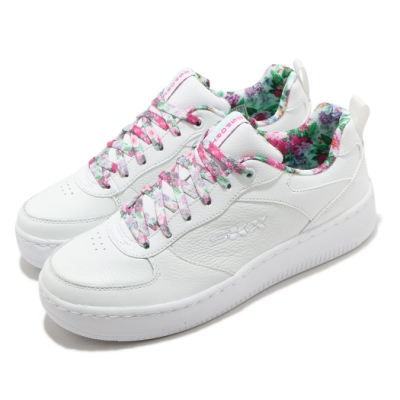 Skechers 休閒鞋 Sport Court 92 女鞋 避震 緩衝 止滑 耐磨 透氣 白 粉 149451WMLT