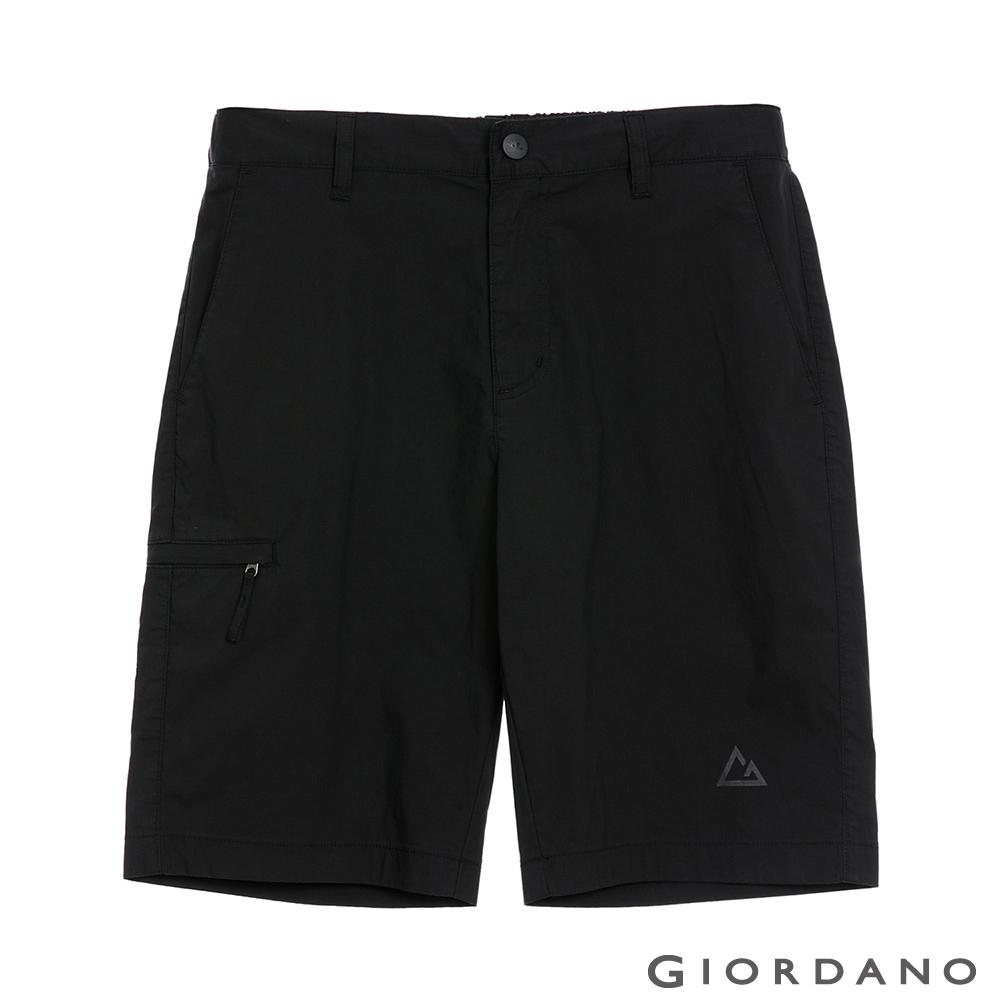 GIORDANO 男裝G-MOTION快乾涼感卡其短褲 - 09 標誌黑