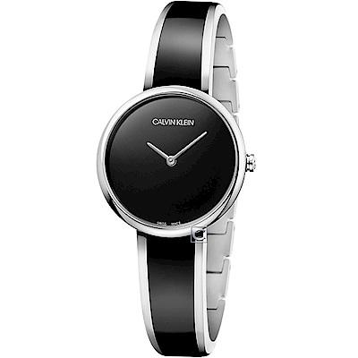 Calvin Klein Seduce誘惑時尚手環式腕錶(K4E2N111)-黑