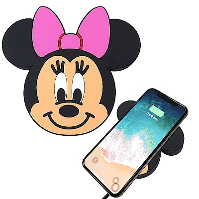 Disney迪士尼可愛大頭無線充電座/充電板_米妮