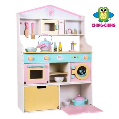 親親 木製廚房組合加冰箱(MSN19031)