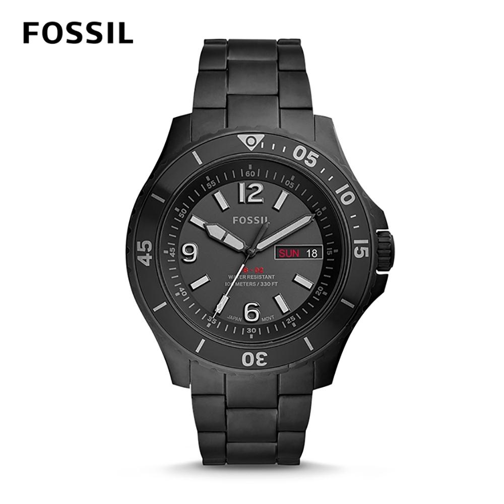 FOSSIL FB - 02 礦野追風防水石英男錶-極緻黑不銹鋼錶帶 42MM FS5688