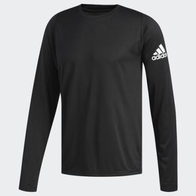 ADIDAS 上衣 長袖上衣 健身 慢跑 男款 黑 DQ2846