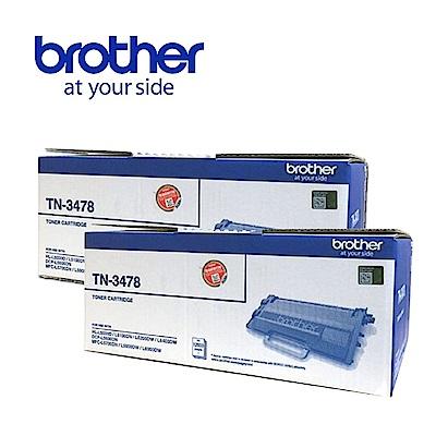 ★2入超值組★Brother TN-3478 黑色高容量碳粉匣