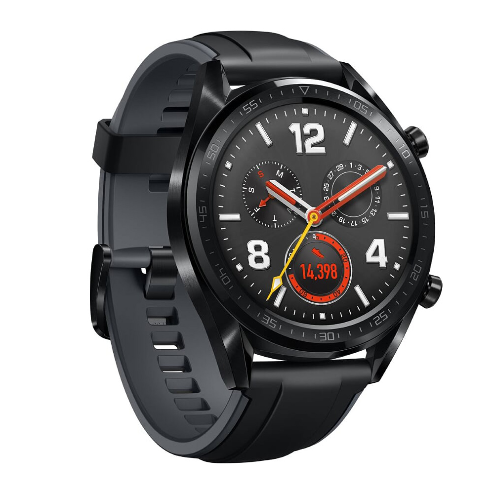 HUAWEI Watch GT 運動智慧手錶 (曜石黑矽膠錶帶) @ Y!購物