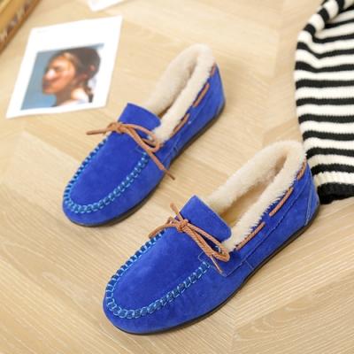 KEITH-WILL時尚鞋館 優雅氣質蝴蝶休閒鞋-藍色